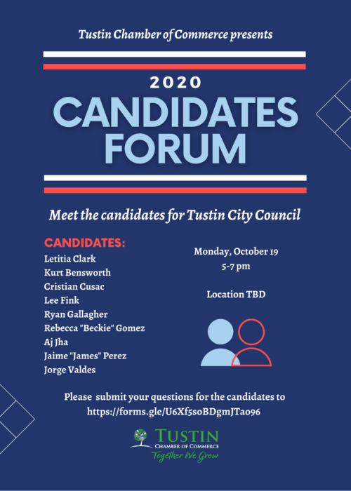 Candidates Forum Flyer October 2
